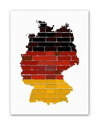 GRUNGE GERMANY MAP EUROPE PHOTO Poster Picture Canvas art Prints