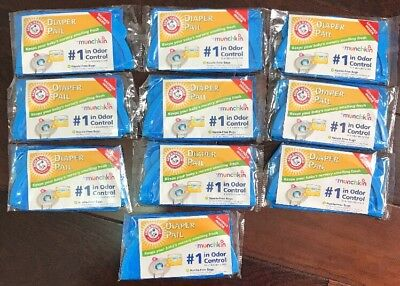 NEW Arm and Hammer Munchkin Diaper Pail Refill Bags - 10 Count FREE SHIPPING