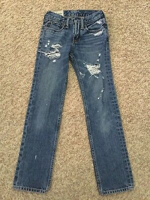 Abercrombie And Fitch Jeans Kids Slim Straight With Holes - Size 12 Slim (3207)