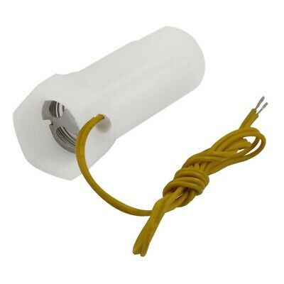 White Plastic Shell Magnetic Water Flow Switch w Inner Outer Thread TS
