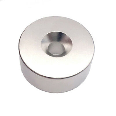 N52 60x20mm Countersunk Ring Magnet Disc Hole 10mm Rare Earth Neodymium Magnet
