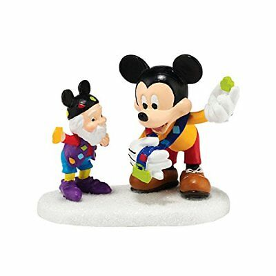 """Department 56 North Pole Village Pin Trading with Mickey Accessory Figurine, 2"""""""