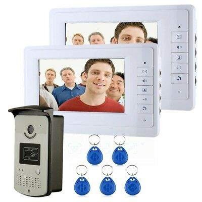 ENNIO SY819MEID12 Video Intercom Phone Doorbell with 2 Monitors 1 RFID Card Read