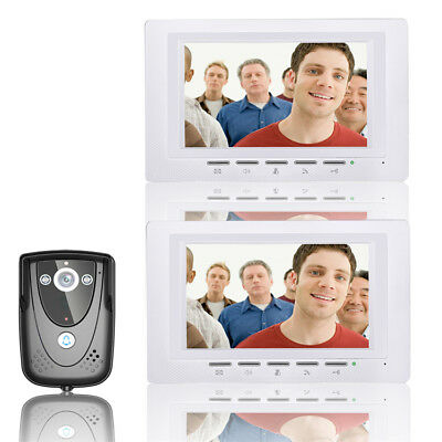ENNIO SY817FCB12 7 Inch Video Door Phone Doorbell Intercom Kit 1 Camera 2 Monito