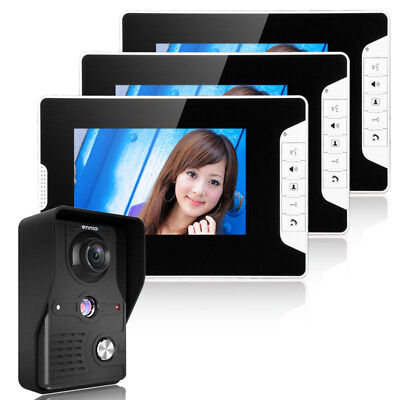 ENNIOSY813MK13 7inch TFT LCD Video Door Phone Doorbell Intercom Kit 1 Camera 3 M