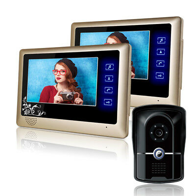 ENNIO 809FG12 7 inch LCD Video Door Phone Doorbell Intercom System with IR Night