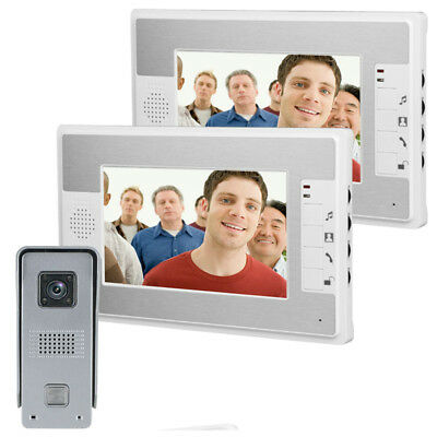 ENNIO SY813ML12 7Inch Video Door Phone Doorbell Intercom Kit with Night Vision C