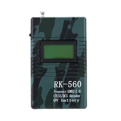 Professional RK560 50MHz-2.4GHz Handheld Frequency Counter DCS CTCSS Radio Testi