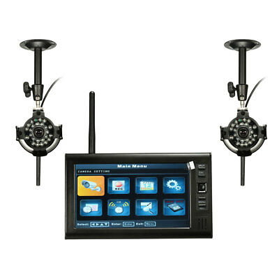 7inch LDC Monitor DVR with 2 Wireless CCTV Camera Motion Detect Home Security Sy