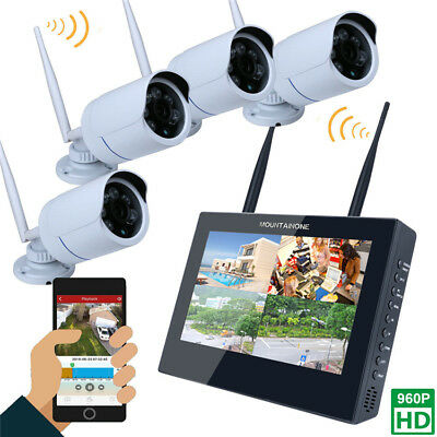 ENNIO SY1003FD14 10 inch TFT 4CH 960P Wireless DVR Video Security Four Waterproo