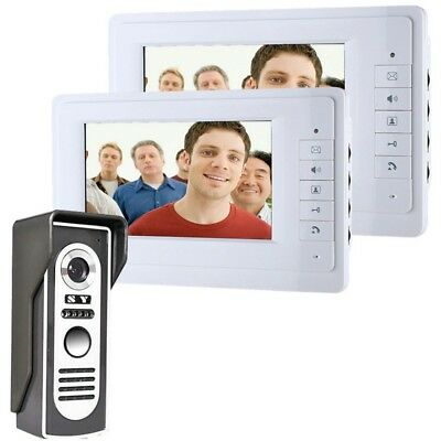 ENNIO SY819M12 7 inch Video Door Phone Doorbell Intercom Kit with 1 Camera 2 Mon