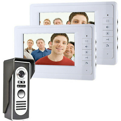 ENNIO SY819M12 7 Inch Video Door Phone Doorbell Intercom System Kit 1-camera 2-m