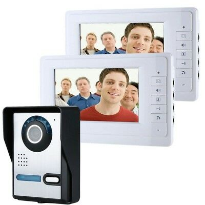 ENNIOSY819FA12 7 inch Video Door Phone Doorbell Intercom Kit with Night Vision C