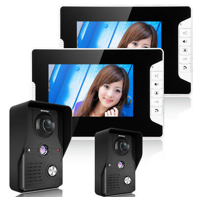 ENNIOSY813MK22 7 Color TFT Video Door Phone Doorbell Intercom Kit 2 Cameras 2 Mo
