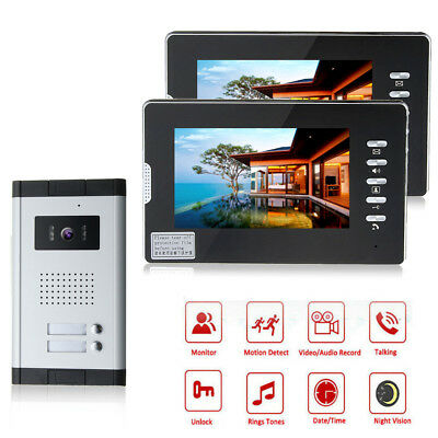 7inch Color LCD Video Doorbell Door Phone System Wired Intercom IR Camera  with