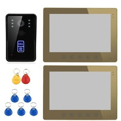 ENNIO SY1001A-MJID12 10 RFID Video Door Phone Intercom Doorbell Touch Button Rem