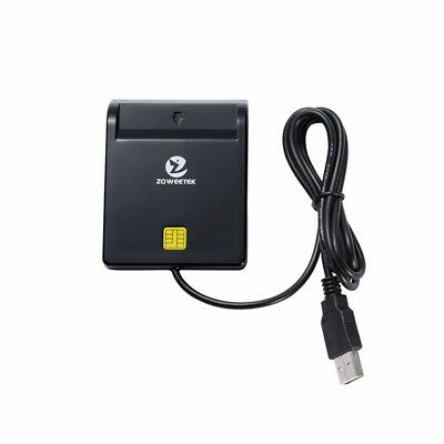 Zoweetek EMV USB Smart Card Reader CAC Common Access Card Reader ISO 7816 for SI