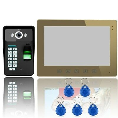 ENNIO SY1001A-MJF11 Touch Key 10 LCD Fingerprint Video Door Phone Intercom 1000T