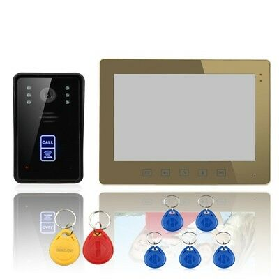 ENNIO SY1001A-MJID11 10 RFID Video Door Phone Intercom Doorbell Touch Button Rem