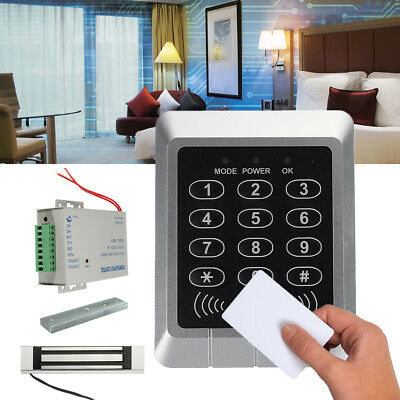 125KHz RFID ID Card Keypad Doorbell Door Lock Security Access Control System Kit