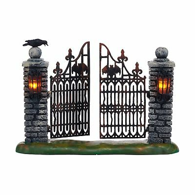 Department 56 Halloween Village Spooky Wrought Iron Gate Accessory Figurine,
