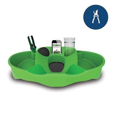 Green TrimStation Trim Bin Tray for Harvesting Herbs or Flowers + Accessories