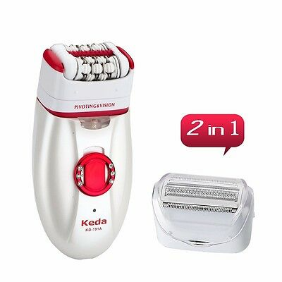 2in1 Rechargeable Electric Foot Callus Remover Epilator Pedicure Lady Shaver Kit