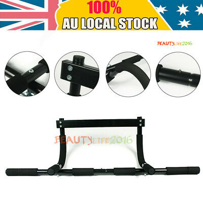 Chin Pull Up Bar Wall Mounted Home Gym Suspension Exercise Door Workout Portable