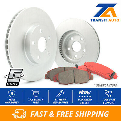Front Kit 2 High-End OEM Replacement Brake Rotors + 4 Semi-Metallic Pads Fits:- 2012 12 Volvo C30 w/300mm Front Rotor Dia