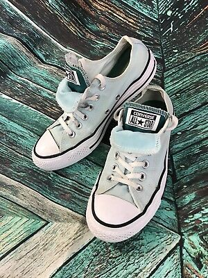 Converse All Star Chuck Taylor Canvas Double Tongue Mint & Teal Womens Sz 7  S27