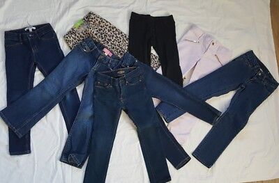 8 Pair Denim Jean Jegging DKNY LUCKY OLD NAVY LEVIS  Girls Clothing Lot Sz 4T 5T