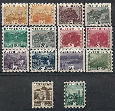 AUSTRIA   1929 LARGE VIEWS   SET of 14  (MLH)  A110