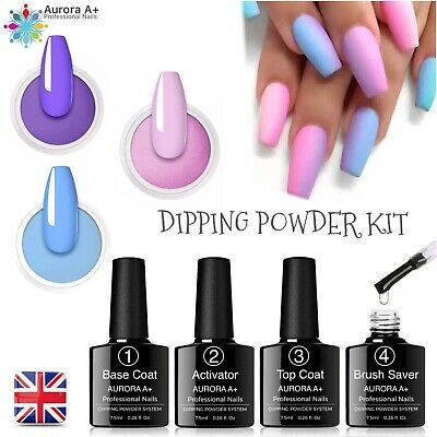Nail Dipping Powder Acrylic System Dry Fast 6 piece set professional Starter Kit