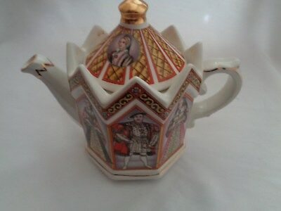 King Henry The 8th And His Six Wives Sadler Tea Pot