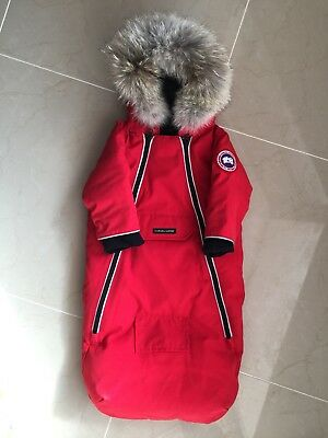 NWOT Canada Goose Baby Bunting Size 3-6 Months Red Goose Down Fill