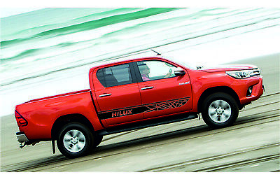 TOYOTA HILUX 2x side stripes body decals vinyl graphics sticker high quality