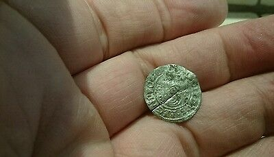 Selling as Unidentified rare? Medieval silver Hammered Coin 0.49g L57j