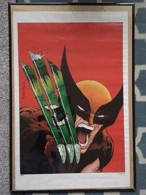 VINTAGE/ORIGINAL WOLVERINE VS THE INCREDIBLE HULK (1988) TODD McFARLANE POSTER