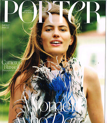 PORTER Magazine #22 FALL 2017 CAMERON RUSSELL Sophie Turner NICOLAS GHESQUIERE