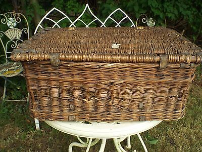 Antique 1930's Wicker Laundry Basket  Storage Display Prop