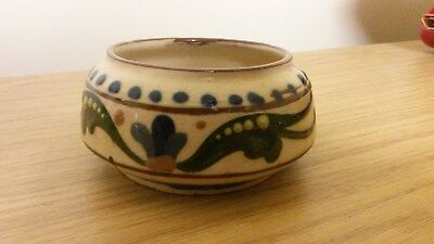 "Devon Aller Vale Mottoware Sugar Bowl Approx 3"" dia Perfect"