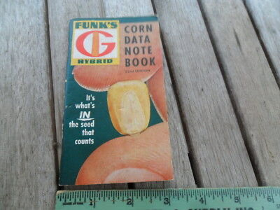 1960 Vintage Funk's Hybrid Corn Data Note Book 22nd Edition