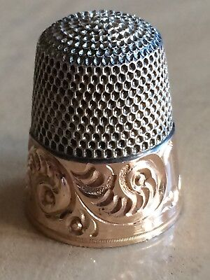 Old Sterling Silver Thimble Simons Brothers Size 10 ~ Includes Original Box ~