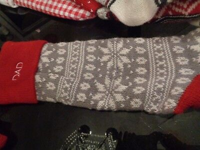 POTTERY Barn Fair Isle Rugby Stripe Christmas Stocking Monogrammed ...