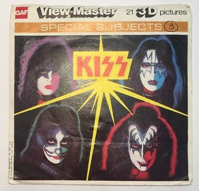 KISS Viewmaster Reels 3D Gene Simmons Paul Stanley Peter Criss Ace Frehley USA