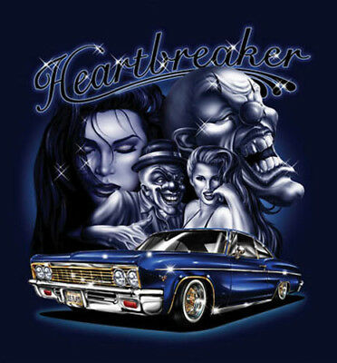 """/""""Low Life/"""" Skull Gangster Lowrider Car Spider Web Urban Style Art Poster"""