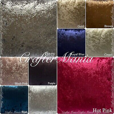 Luxury Crushed Velvet Fabric Upholstery, Sofa, Curtains and Cushions 17 colours