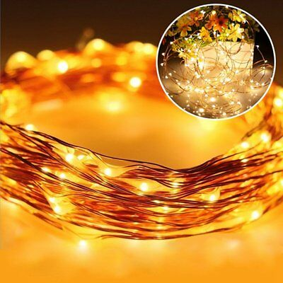 Solar String Lights 100 LED Multicolour Copper Wire Party Decor Fairy Lighting
