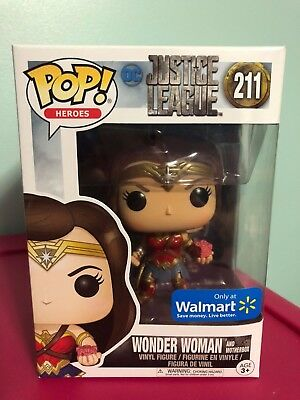 Funko Pop! Wonder Woman and Motherbox Justice League DC Walmart Exclusive 211