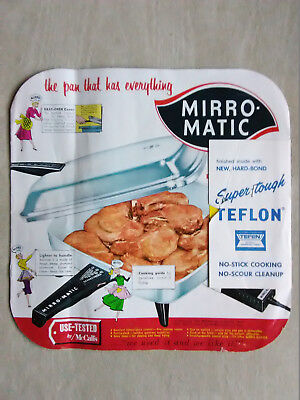 Vintage Mirro-Matic Automatic Electric Fry Pan Manual Recipes